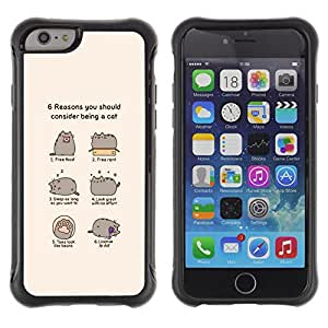 Jordan Colourful Shop@ FUNNY - CAT COMIC HUMOR Rugged hybrid Protection Impact Case Cover For iphone 6 6S CASE Cover ,iphone 6 4.7 case,iphone 6 cover ,Cases for iphone 6S 4.7