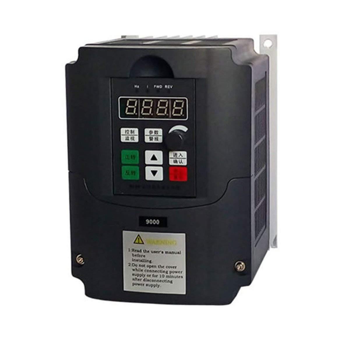380 V 2.2KW Frequenzumrichter, 380 V 2.2KW 3 Phase AC Frequenzumrichter Vector Control Einstellbarer Drehzahlregler 5A Frequenzumrichter Wafalano