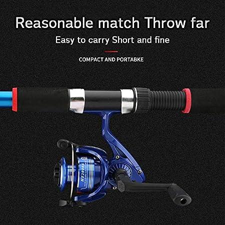2.1m Telescopic Fishing Rod Combo Kit Fishing Wheel Set Fishing Pole Spinning Reel Lure Baits Hooks Fishing Kit Fishing Gear Set