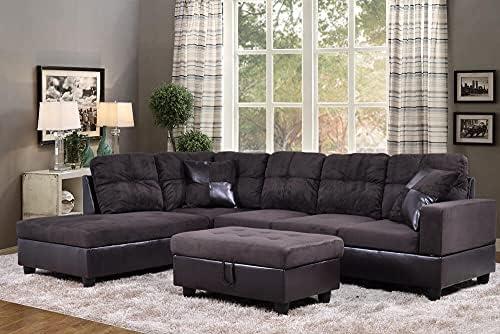 3PCS Living Room Sofa Set Light Luxury Furniture...