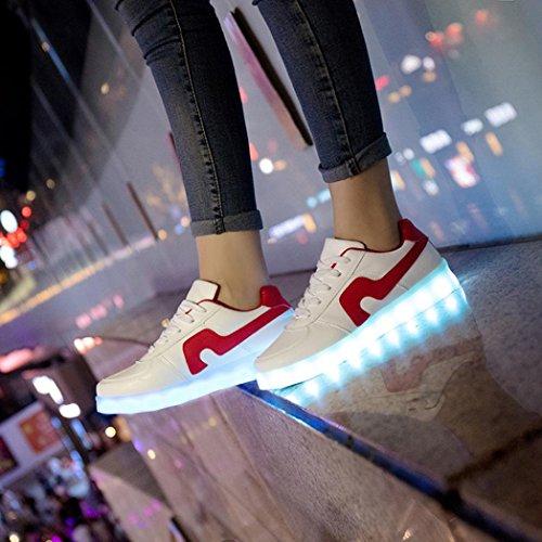 Malloom® LED-Licht schnüren sich oben leuchtende USB-Gebühren-Sport-Turnschuh-Unisex beiläufige Schuhe