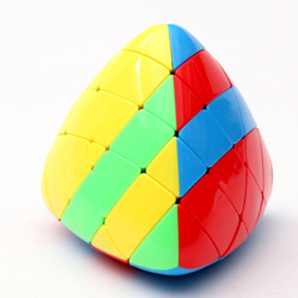 Faironly 4/x 4/Mastermorphix Speed Cube rompicapo Pyramid-Shaped Twisty Puzzle cubo Magico per Tutte Le et/à