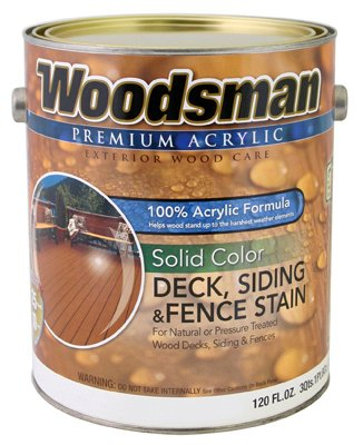 True Value Mfg ADS27-GL Acrylic Deck, Siding & Fence Stain, Solid, Rustic Brown, 1-Gal. - Quantity 2