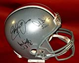 Ohio State Heisman Archie Griffin Eddie George Troy Signed Fs Rep Helmet Osu JSA - Authentic Signed Autograph
