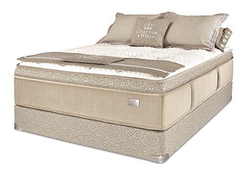 Chattam & Wells Queen Franklin Latex Euro Top Mattress & Low Profile Box by Spring Air