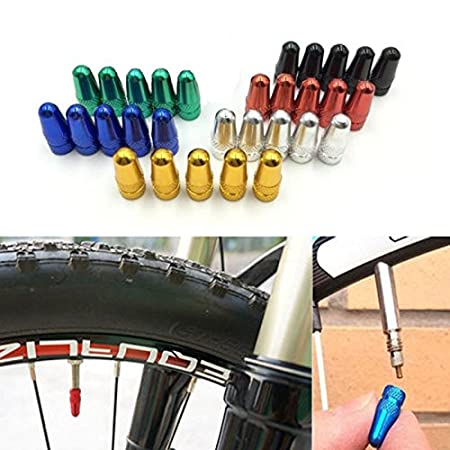 5Pcs Tapa de V/álvula de Aire Guardapolvo Llantas Neum/áticos para Bici Bicicleta