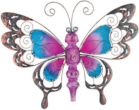 Regal Art Gift Country Wood Butterfly Standing Art, Purple