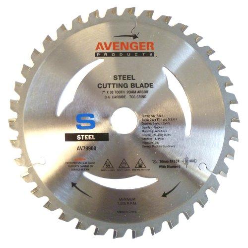 Avenger AV-79968 Steel Cutting Saw Blade, 7-inch by 38 to...