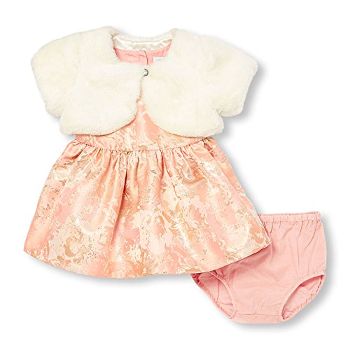 Fur Dress Dust Casual Faux Brocade Girls The Baby Children's Place Pink Rose Dress pqw0WYO