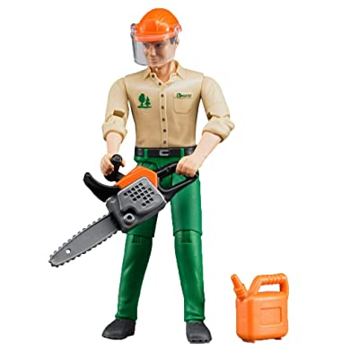 Bruder 60030 bworld Logging Man / Forestry Worker with Accessories: Toys & Games