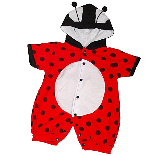 Dressy Daisy Baby Boys' Ladybug Baby Animals Halloween Fancy Party Costume Jumpsuit Size 3-6 -