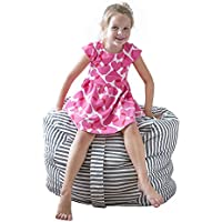 Kids Stuffed Animal Bean Bag Storage Chair - EXTRA LARGE - Store Toys Towels Blankets Pillows