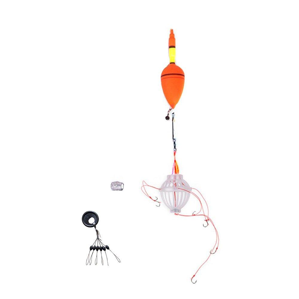 TOOGOO(R)Set de flor de pesca Monstruo Marino con seis ganchos fuertes + Bobber de pesca SHOMAT10450