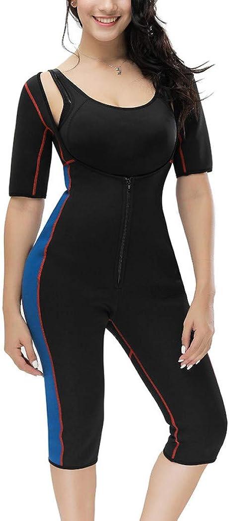 Full Body Shaper Bodysuit Women Seamless Slimming Underwear Sauna Workouts Shapewear Sweat Butt Lift Suit Waist Trainer