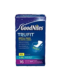 GoodNites TRU-FIT Refill Pack Disposable Absorbent Inserts for Boys & Girls L/LX - 16 CT BOBEBE Online Baby Store From New York to Miami and Los Angeles