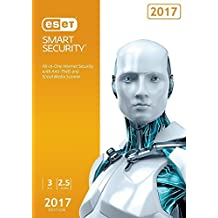 ESET Smart Security 2017 | 3 PC's | 2.5 Years Subscription | PC | Keycard- No Disc