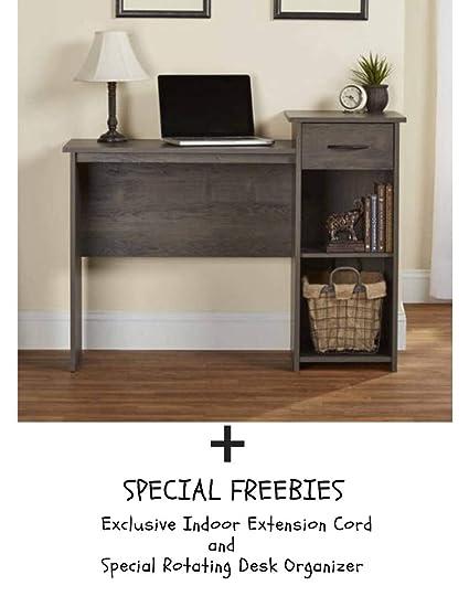 Mainstays Student Desk - Home Office Bedroom Furniture Indoor Desk - Easy  Glide Accessory Drawer (Desk + Freebies, Espress)
