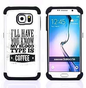 GIFT CHOICE / Defensor Cubierta de protección completa Flexible TPU Silicona + Duro PC Estuche protector Cáscara Funda Caso / Combo Case for Samsung Galaxy S6 SM-G920 // Funny //