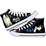 New Black Butler Canvas shoes Anime women Casual Painted Breathable Student Sneakers