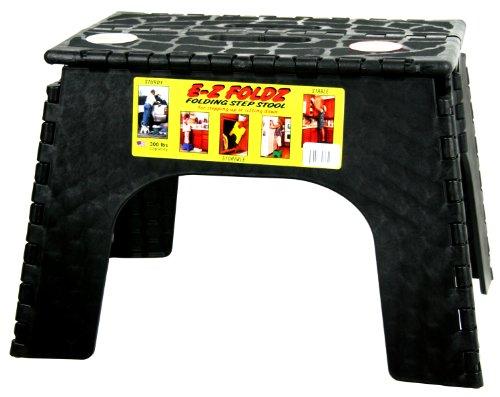 B&R Plastics 103-6BK E-Z Foldz Folding Step Stool - 12