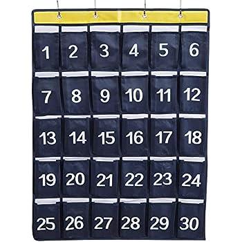 Amazon. Com: vvhooy classroom sundries closet pocket chart, cell.