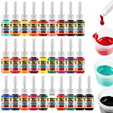 Solong Tattoo Kit Complete Rotary Coil Machine Guns with 28 Inks Power Supply for Tattooist Beginner TMK647C-1