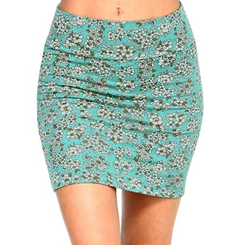 Fashionazzle Women's Casual Stretchy Bodycon Pencil Mini Skirt (Large, KS05-#3 -