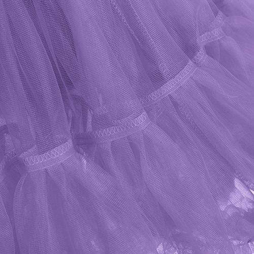 IVNIS RS90010 Women's Petticoat Tutu Skirt 2 Layered Ballet Dance Pettiskirt Mini Skirt Lavender S by IVNIS (Image #7)