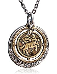 Zodiac Sign Astrology Horoscope Pendant Necklace Birthday...