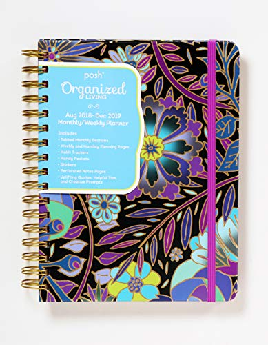 Posh: Organized Living 2018-2019 Monthly/Weekly Planning Calendar: Midnight Garden from Andrews McMeel Publishing