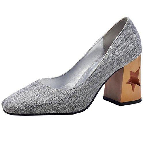 Escarpins Soiree Chaussures Femmes Grey Pointue Bout RAZAMAZA Bq1Iztw