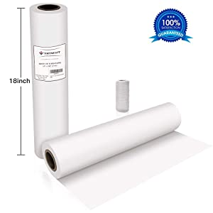 "White Kraft Butcher Paper Roll -18"" x 2100"" (176 ft) FDA Approved Food Grade White Wrapping Paper for Meats of All Varieties - Unbleached Unwaxed and Uncoated"