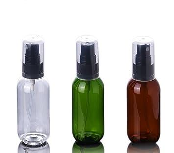 6 botellas de spray de plástico recargables para maquillaje con purpurina y cubierta antipolvo para pulverizadores de fragancia y cosméticos: Amazon.es: ...