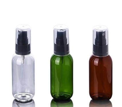 6 botellas de spray de plástico recargables para maquillaje con purpurina y cubierta antipolvo para pulverizadores