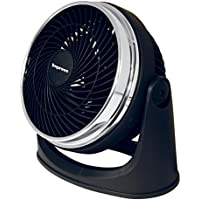 Impress IM-718TC 8-Inch Turbo Velocity Fan | Three Speeds | Wall-Mountable Design | Tilts 90 Degrees for Cooling, Venting or Air Circulation