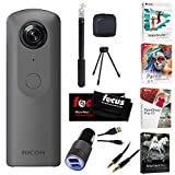 Ricoh THETA V 360 4K Spherical VR Camera Bundle (w/ Video Editing Software)