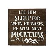 Let Him Sleep For When He Wakes Sign Boy Nursery Decor Rustic Nursery Decor Rustic Woodland Nursery Adventure Nursery Travel Nursery