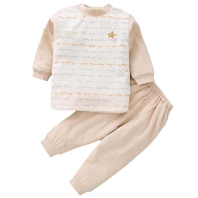 ALLAIBB Niños pequeños Pantalones de Pijama abrigados con algodón Natural Acolchados 3-24M: Amazon.es: Ropa y accesorios
