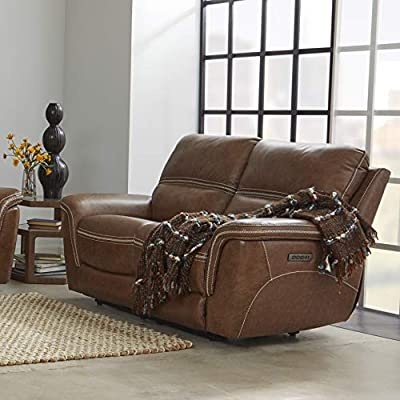 Prime Stitch Time 5571 Mason Reclining Leather Loveseat Brown Short Links Chair Design For Home Short Linksinfo