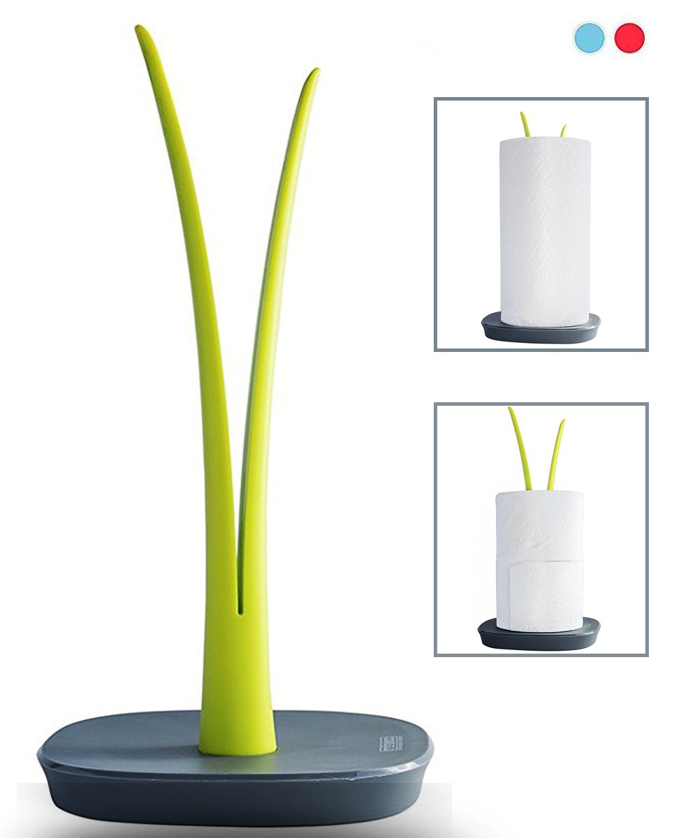 """Sprout"" Decorative Paper Towel Holder or Toilet Paper Holder by Comfify - Vertical Countertop Paper Towel Stand or Toilet Roll Stand - Sturdy No-Slip Base - 11.75"" x 6"""
