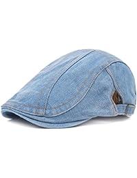 b855fff9c8fb4 Unisex Denim Newsboy Flat Ivy Gatsby Cabbie Driving Hat Dad Cap
