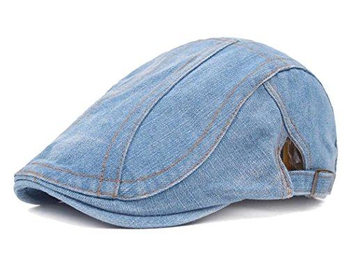 Men's Denim Newsboy Hat Ivy Gatsby Hunting Hats Women's Summer Flat Snap Cap
