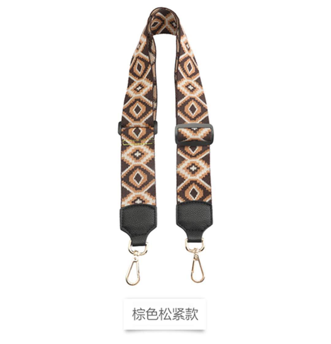 Cross-Diagonal Belt Wide Shoulder Strap Adjust Ladies Bag National Wind Color Shoulder Strap Accessories 2