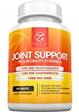 Joint Glucosamine Chondroitin MSM Complex Supplement - 1500mg Glucosamine 1200mg Chondroitin 1000mg MSM and Hyaluronic Acid - 180 Tablets