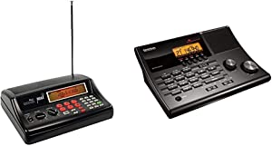 Whistler WS1025 Analog Desktop Scanner (Black) & Uniden BC365CRS 500 Channel Scanner and Alarm Clock - Commonly Used for Police, Fire/EMS, Aircraft, Radio, and Marine Transmissions
