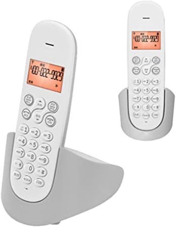 TeléFono Pulsador Vintage TeléFono InaláMbrico Digital TeléFono Fijo Set Home Office TeléFono InaláMbrico con ExtensióN Fija Bienvenido (Color: Gris2): Amazon.es: Hogar