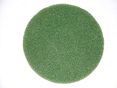 "BISSELL BigGreen Commercial 437.056BG-C Cleaning Pad for BGEM9000 Easy Motion Floor Machine, 12"", Green (Pack of 5)"
