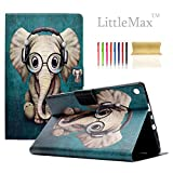 HD 8 Case - LittleMax(TM) [Cards Holder] Ultra Slim Lightweight Thin PU Leather Stand Flip Case Cover with Auto Sleep/Wake for Amazon Kindle Fire HD 8'' 6th & 7th Generation -# Elephant