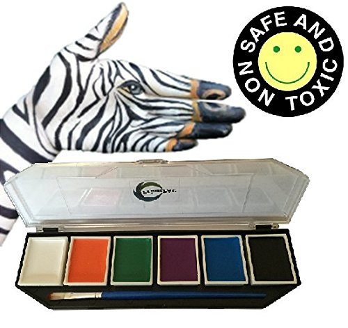 Face Paint & Body Paint Color. Art Makeup Kit for School, Halloween, Birthday, Dress Up Games, Cosplay. Drawing Arts Crafts Educational Toys. Creative Fantasy without limits. Great Coverage on Skin