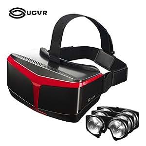 UCVR Superior Fresnel Lentes ópticas Mismos materiales que HTC, VR Gafas 3D de Realidad Virtual Dispositivo VR para Windows, Android Samsung S6/S7/S6 edge/S7 edge, LG, Huawey, Motorola, HTC, MEIZU, BQ y la mayoría de terminales Android y iPhone 6/6 Plus de entre 4,7 y 5,7 pulgadas - color negro